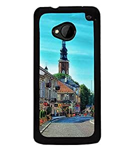 Fuson Premium 2D Back Case Cover Lovely place With blue Background Degined For HTC One M7::HTC M7