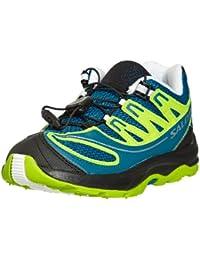 Salomon Zapatos para Niños Kids XA Pro 2K Oscuridad Granny Azul Verde Blanco