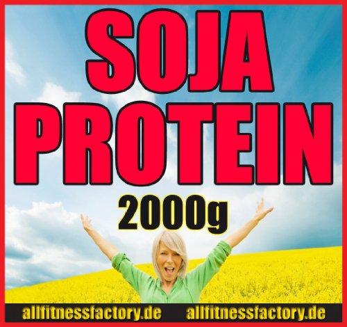 Soja Protein vegan vegetarisch Soja-Isolat 2000g Eiweiß Vanille von allfitnessfactory (Bio-soja-protein-isolat)