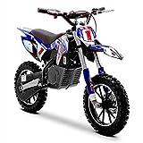 Funbikes Blue Kids Dirt Bike - Childrens Electric Motorbike Mini Motocross Scrambler