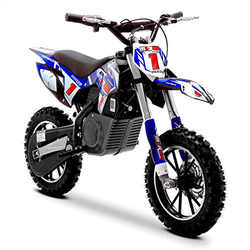 Funbikes MXR 500w Lithium blau Kids Elektro Dirt Bike - Mini Motorrad Scrambler, Unspecified