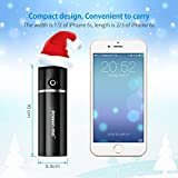 Poweradd Slim2 5000mAh Portable Charger Power Bank with Auto Detect Technology for iPhones, iPods, Samsung Galaxy series Phones (Lightning Cable Not Included) - Black