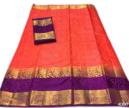 Nirja Creation Cotton Silk Saree (NC-OD-LTS-6_Pink_Free Size)