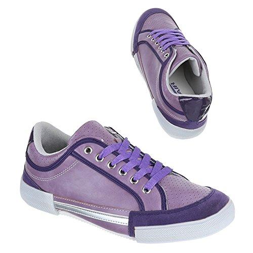 Ital-Design, W de 338, loisirs Baskets Chaussures de sport Violet - Violet