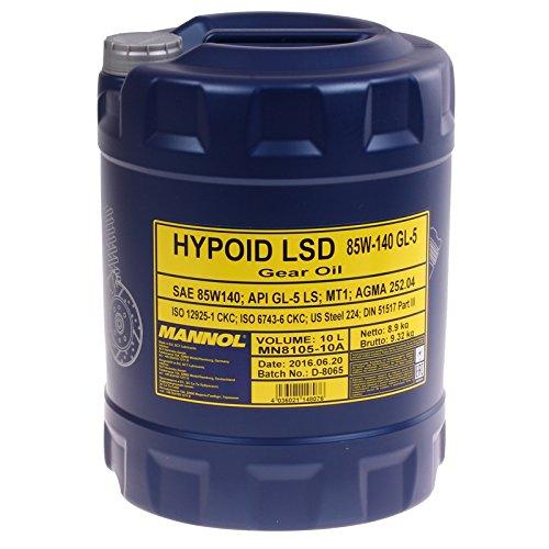 MANNOL Hypoid LSD 85W-140 API GL-5 LS, 10 Liter -
