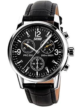 schönes großes schwarzes Zifferblatt Retro Quarz für Männer mit arabischen Ziffern Geschäftskleid Armbanduhr Uhr