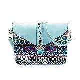 YOUBan Damen Schultertasche Mode Tasche Blumen Druck Handtaschen Süße Muster Umhängetasche Ledertasche Mini Rucksack