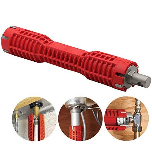 Waschbecken-Wasserhahn-Installierer-Schlüssel, Hexen-Nuss-Multifunktionswasser-Rohr-Sockel-Schlüssel, Nickel-Chrom-Legierungs-Stahl Für Kleinen Raum -