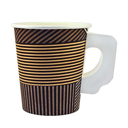 Enjoy Coffee to go Becher aus Hartpapier mit Henkel 0,18l, 1000Stk, Pappbecher