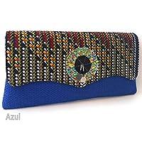 Bolso de mano para mujer telas Wax Africa clutch cartera de mano ideal para regalo exclusivo