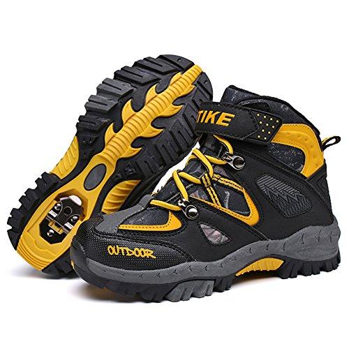 VITIKE Kletterschuhe Dschungel Jungen Gehen Trekking Leicht Draussen Sportlich Schuhe Wanderschuhe(Gelb-EU32) (Mitte Gelb Schuhe)