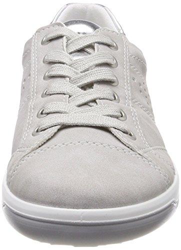 Jenny Miami, Sneaker Donna Grau (Pebble, Silber)