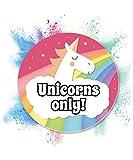 Unicorno scudo–Unicorns Only, decorazione da parete, Targa per porta della ragazza camera da letto e maedels Appartamento, idea regalo per gli appassionati di unicorno e regalo di compleanno migliore amico, divertente sorpresa–Inaugurazione Party