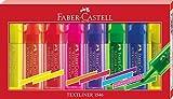Faber-Castell 254667 Textmarker Textliner 1546, 8-er Etui Wallet, 8 Stifte