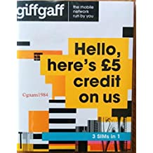 Giffgaff 4G Multi Sim card Preloaded with £5 Credit + Adapter - Unlimited Calls, Texts and Data -> For IPHONE 4/4S/5/5C/5S/6/6S/6+ iPad 1/2/3/4/5 Air/2/5 Galaxy S1/S2/S3/S4/S5/S6/S6-edge/S7/S7-edge, LG Phones, HTC Phones, Sony/Sony Xperia Phones - > Mobiles Directs Communications Ltd