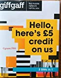 ORIGINAL BRAND NEW - SEALED UNOPENED - NO CONTRACT TRIPLE SIM CARD - STRAIGHT FROM OUR GIFFGAFF WAREHOUSE. UP TO 3 SIM CARD ORDERS PER PERSONS. £5 FREE PAYG CREDIT BALANCE EACH ON ACTIVATION