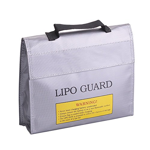 Preisvergleich Produktbild LiPo Feuerfestes Sicherheit Tasche, Akku aufladen Lagerung Sicher, Beutel Sack Langlebig Explosion Guard Tasche für RC Drone DJI Mavic Pro Batterien (235* 65* 180mm)