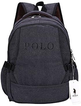 Laptop Rucksack,VIDENG POLO Geschäft Segeltuch Handtaschen Büchertasche für die Universität Reise Rucksack für...