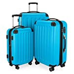 HAUPTSTADTKOFFER Spree - 3er Koffer-Set Trolley-Set Rollkoffer Reisekoffer, TSA, S, M und L, 75 cm, 259 L, Cyanblau