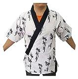 Black Temptation Frauen Männer Koch Jacken Mantel Sushi Restaurant Bar Japanische Kleidung Uniform - C