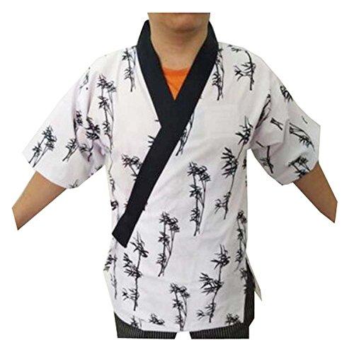 Black Sushi (Black Temptation Frauen Männer Koch Jacken Mantel Sushi Restaurant Bar Japanische Kleidung Uniform - C)