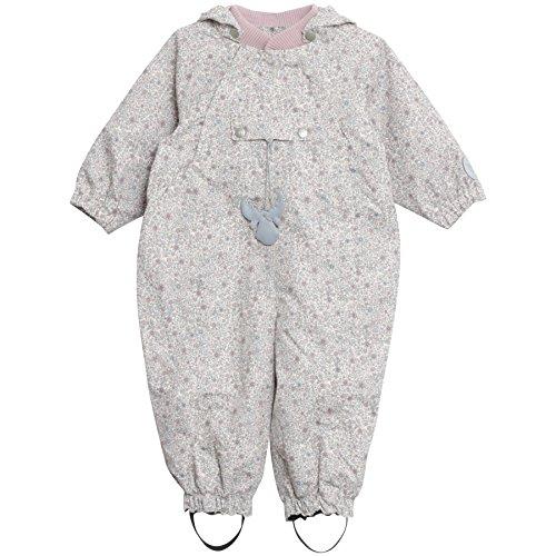 Wheat Baby Mädchen Jacke Frankie Regenoverall Wassersäule, Elfenbein (Ivory 3182), 74 (Herstellergröße: 9m)