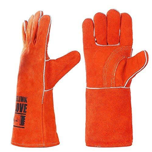 guanti resistenti al calore Pelle saldatura guanti da lavoro-Guanti resistenti al calore