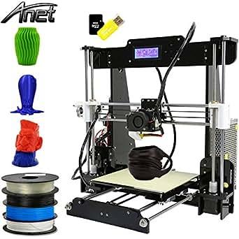 Anet A8 3D Drucker 3D Printer DIY i3 Upgradest High Precision Reprap Prusa LCD Bildschirm USB 8 GB SD Karte eins Extruder 3D-Drucker Kit Set