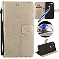 Etsue GOOGLE PIXEL XL Custodia Pelle,GOOGLE PIXEL XL Cover,Lusso Leather Flessible Morbida Puro Pu Wallet/Libro/Flip (Messenger Folio)