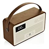 VQ Retro Mk II DAB & DAB+ Digital Radio with FM, Bluetooth, Apple Lightning Dock & Alarm Clock – Brown