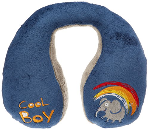 Walser 30757 Cool Boy Nackenhörnchen, Nackenkissen Kinder, Reisekissen, blau - Auto-kindersitz Kind