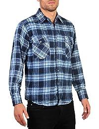 Herren Karohemd Holzfällerhemd Warme Baumwolle M L XL XXL