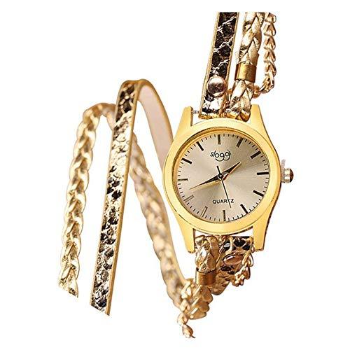ZSDGY Damas Winding Reloj Pulsera Tejida Serpiente De Cuarzo Reloj De Pulsera Electrónica con Extra...