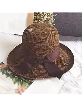 LVLIDAN Sombrero para el sol del verano Dama SolAnti-sunshinestrawhat coffeecolor