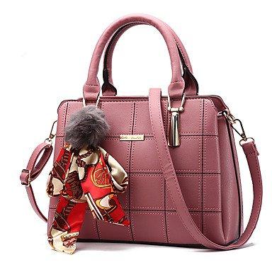 Frauen Handtasche Mode Plaid Schulter Messenger Crossbody Taschen / Handtaschen Tote Pale Pink