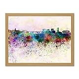 Painting Cityscape Paint Splash Skyline Luxembourg Art