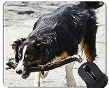 Yanteng Tappetini per Mouse da Gioco per Cuccioli di Cane, Tappetino per Mouse Border Collie con Bordi cuciti