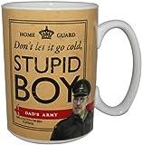 Official Dad's Army Mug, Stupid Boy, Pike & Mainwaring, Gift Boxed