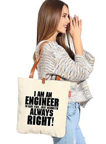 So 'each da donna io ingegnere Graphic Tela Borsa Shopper Shopping Bag