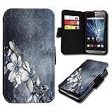 Book Style LG L90 Premium PU-Leder Tasche Flip Brieftasche Handy Hülle mit Kartenfächer für LG L90 - Design Flip SV125