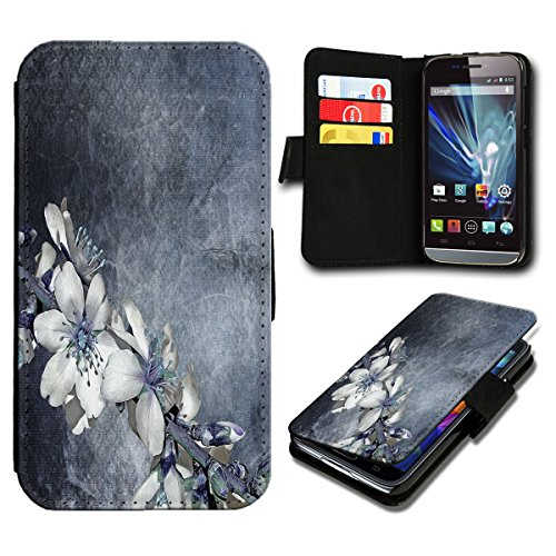 Book Style LG L Fino Premium PU-Leder Tasche Flip Brieftasche Handy Hülle mit Kartenfächer für LG L Fino - Design Flip SV125