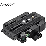Andoer Video Camera Tripod Quick Release Clamp Adapter with Quick Release Plate Compatible for Manfrotto 501 500AH Q5 Head