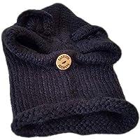 Sombrero De Invierno 2 En 1 Al Aire Libre Sombrero A Prueba De Viento Acolchado En Frío Adecuado para 2-8 Años De Edad, Esquí De Excursión,White,2To8yearsold
