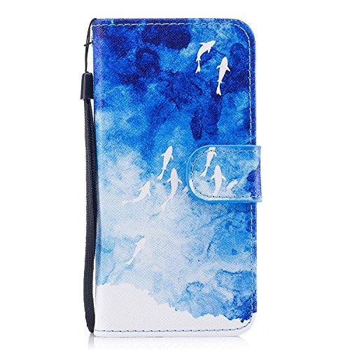 iPhone 6/ 6S Flip Case, iPhone 6S Ledertasche, iPhone 6/6S 4,7' Booktype Schutzhülle, Vemos Bunt...