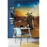 Komar 1–Star Wars Master Yoda papel pintado, vinilo, multicolor, 4piezas