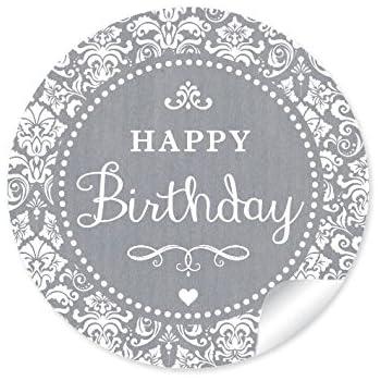 """24 STICKER: """"Happy Birthday"""" 24 Geburtstagsaufkleber"""