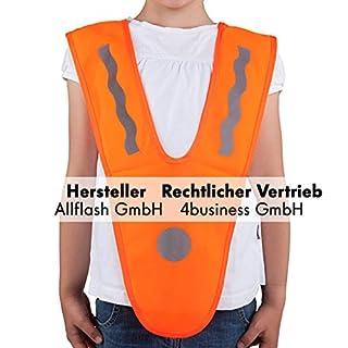 Sicherheitsüberwurf orange Größe unisize für Kinder