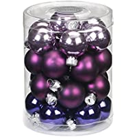 Inge-glas 15187d001 – MO sfera, 28-pezzi, Polar Night-mix, 30 mm, Viola uva/lavanda/viola