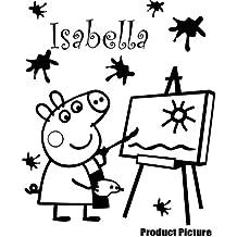 20 cm x 20 cm Pavizdinis produktas elegir color 18 colores en stock personaliseitonline nombre, nombre, infantil, niños de la sala de pegatinas, vinilo del coche, las ventanas y pared, ventanas de pared arte, etiquetas, adorno adhesivo de vinilo ThatVinylPlace