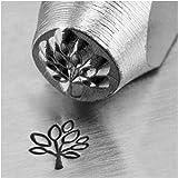 Impress Art Stanzstempel, aus Metall, Motiv: Baum mit Blättern, 6mm